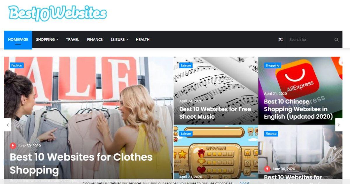 best 10 websites, migliori siti web