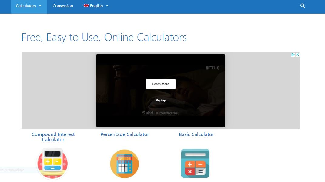 calcolatrici, the-calculators.com