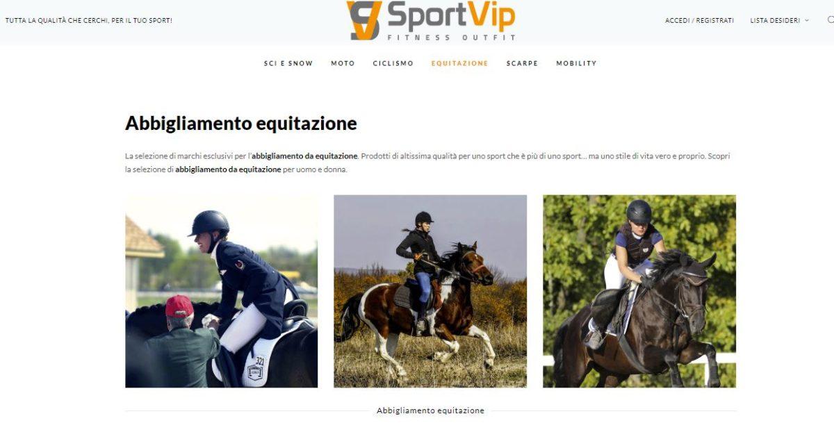 sportvip, abbigliamento equitazione, sportvip.it