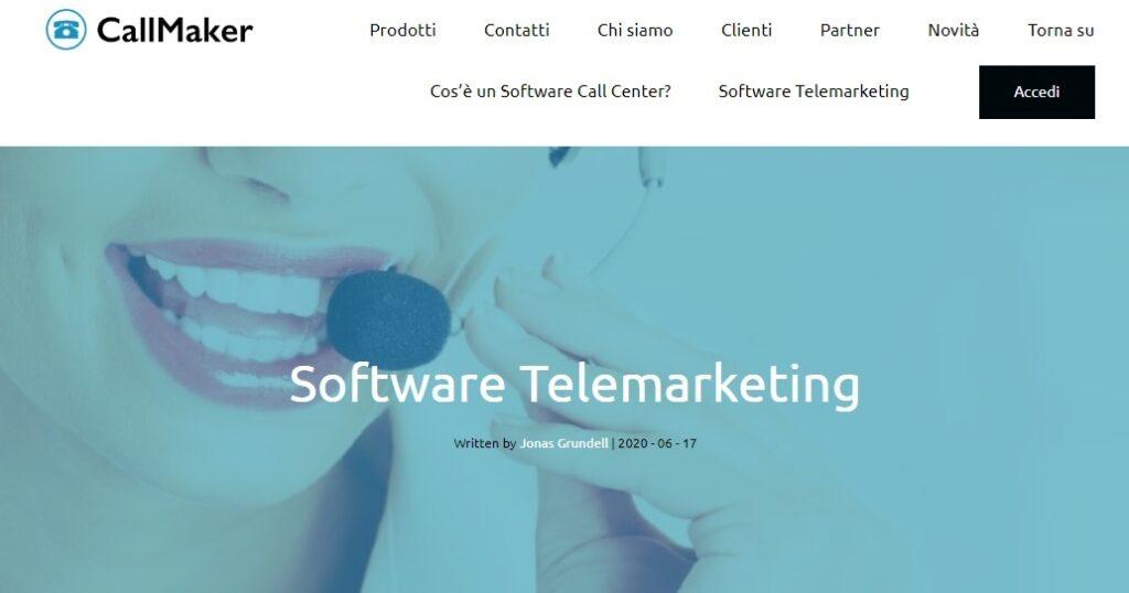 callmaker, Software telemarketing